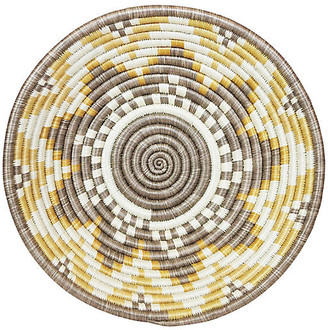"""All Across Africa 12"""" Korren Accra Basket - Gold/Taupe"""