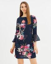 Wallis Flute Sheer Sleeve Dress