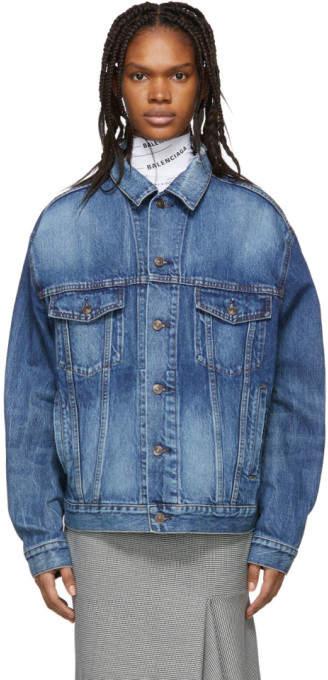 Balenciaga Blue Denim Logo Jacket