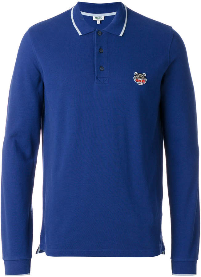Kenzo long-sleeved Tiger crest polo shirt