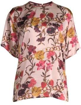 Mother of Pearl Shirley Floral Silk Tee