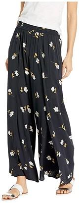 Billabong Wandering Soul Pants (Black Floral) Women's Casual Pants