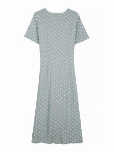FRNCH Armance Dress - M - Grey/White