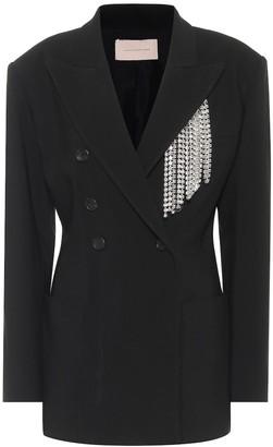 Christopher Kane Embellished twill blazer