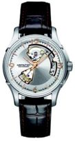 Hamilton Jazzmaster Open Heart Auto Stainless Steel & Embossed Leather Strap Watch