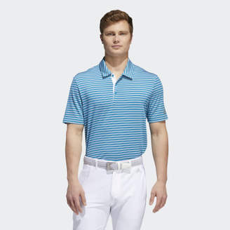 adidas Ultimate365 Two-Color Stripe Polo Shirt