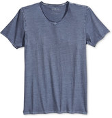 GUESS Men's Heathered Crew-Neck T-Shirt