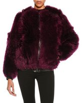 Tom Ford Lamb Fur Chubby Bomber Jacket, Wine