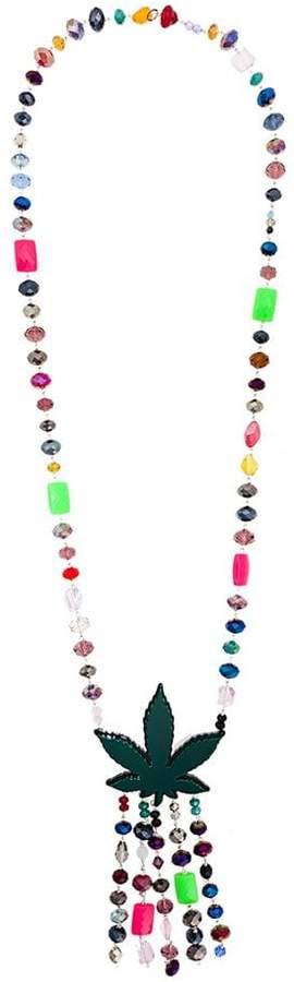 P.A.R.O.S.H. marijuana beaded necklace