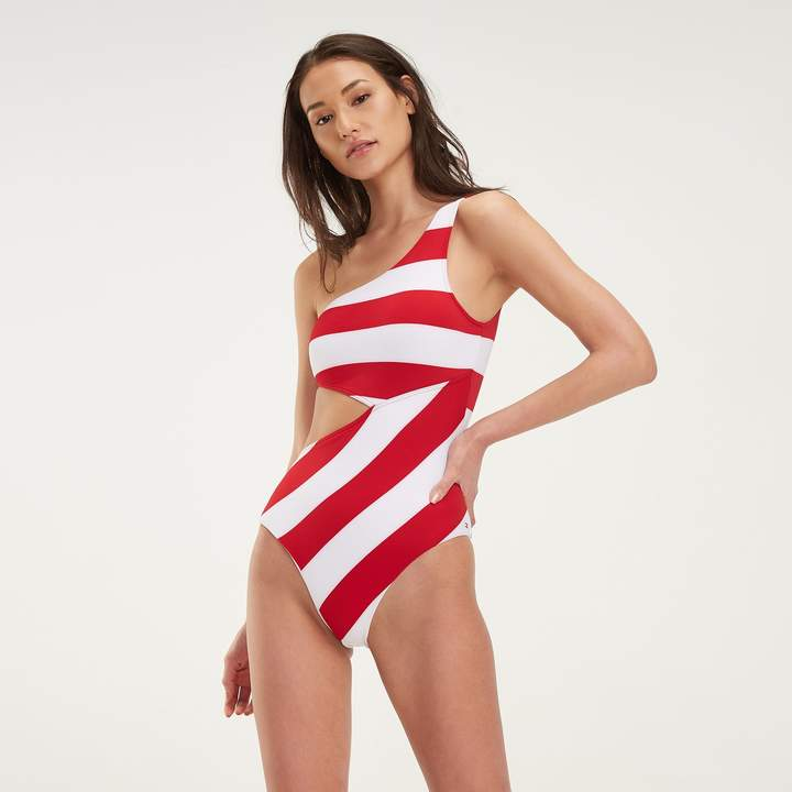 766312996 One Shoulder Cut Out Swimwear - ShopStyle