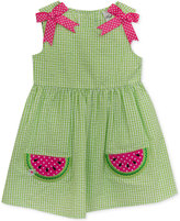 Rare Editions Gingham Seersucker Watermelon Dress, Baby Girls (0-24 Months)