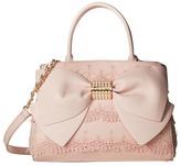 Betsey Johnson Pearl Of A Girl Lace Bow Satchel Satchel Handbags