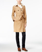 Tommy Hilfiger Kate Faux-Sherpa Trench Coat, Only at Macy's