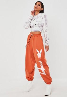 Missguided Playboy X Orange Super Oversized Jumbo Joggers