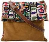 Vintage Addiction Vintage Fabric & Suede Crossbody Bag