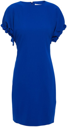 Victoria Victoria Beckham Gathered Crepe Mini Dress