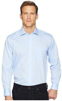 Magna Ready Solid Magnetically-Infused Pinpoint Dress Shirt- Spread Collar (Blue) Men's Clothing