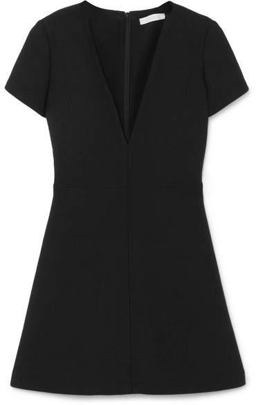 Chloé Wool-crepe Mini Dress - Black