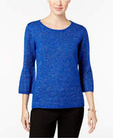 NY Collection Bell-Sleeve Sweater