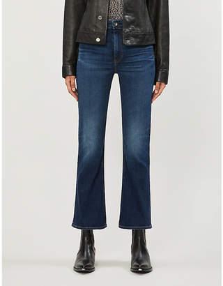 Rag & Bone Nina flared-hem skinny high-rise jeans