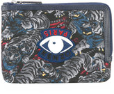 Kenzo printed wallet - men - Leather/Polyester - One Size