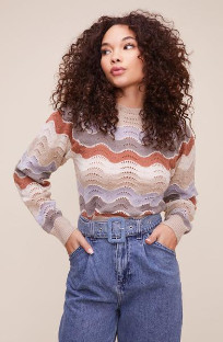 ASTR the Label The Emma Sweater In Taupe - XS