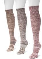Muk Luks 3-pk. Marled Knee-High Socks - Women