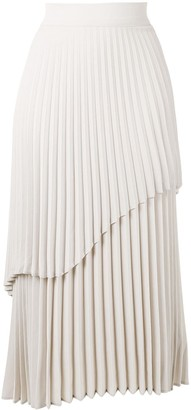 Beaufille Tiered Pleat Maxi Skirt