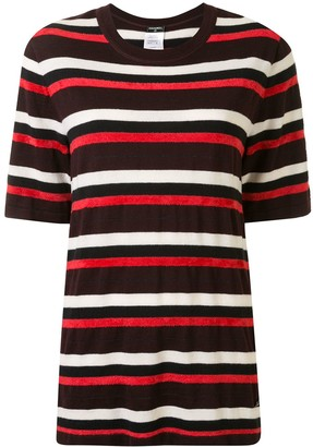 Chanel Pre Owned crew neck striped T-shirt