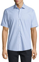 Zachary Prell Dobby-Print Short-Sleeve Shirt, Light Blue