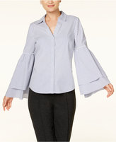 INC International Concepts Tiered Bell-Sleeve Shirt, Created for Macy's