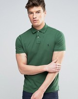 Polo Ralph Lauren Pique Polo Custom Regular Fit In Washed Green