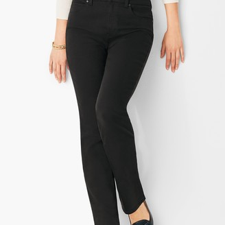 Talbots High-Waist Straight-Leg Jeans - Black
