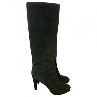Sergio Rossi \N Green Suede Boots
