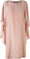 Alberta Ferretti waterfall sleeve dress - women - Silk - 40