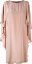 Alberta Ferretti waterfall sleeve dress - women - Silk - 44