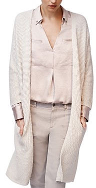 b new york Open-Front Chunky Cardigan