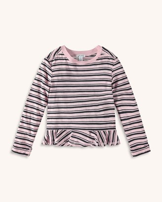 Splendid Little Girl Stripe Tee with Ruffle