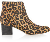 Sam Edelman Edith Leopard-Print Calf Hair Ankle Boots