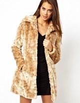 Belted Faux Fur Coat