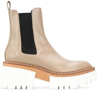 Stella McCartney Ridged-Platform Ankle Boots