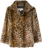 MICHAEL Michael Kors leopard print fur jacket
