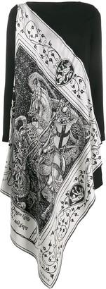 Lanvin Asymmetrical scarf dress