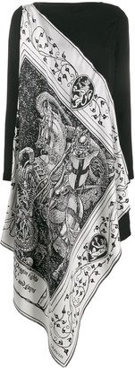 Lanvin Asymmetrical scarf dress