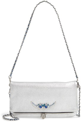 Zadig & Voltaire Rock Metallic Lambskin Leather Convertible Clutch