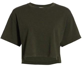 Frame Boxy Side-Slit Crop T-Shirt