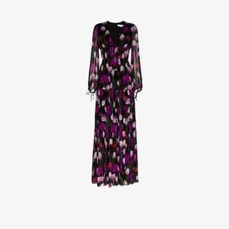 Borgo de Nor Freya tiered silk maxi dress