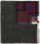 Closed patchwork tassel checked scarf