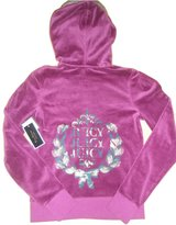 Juicy Couture Velour Track Jacket Hoodie S