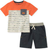 Kids Headquarters 2-Pc. Pocket T-Shirt & Shorts Set, Baby Boys, Created for Macy's